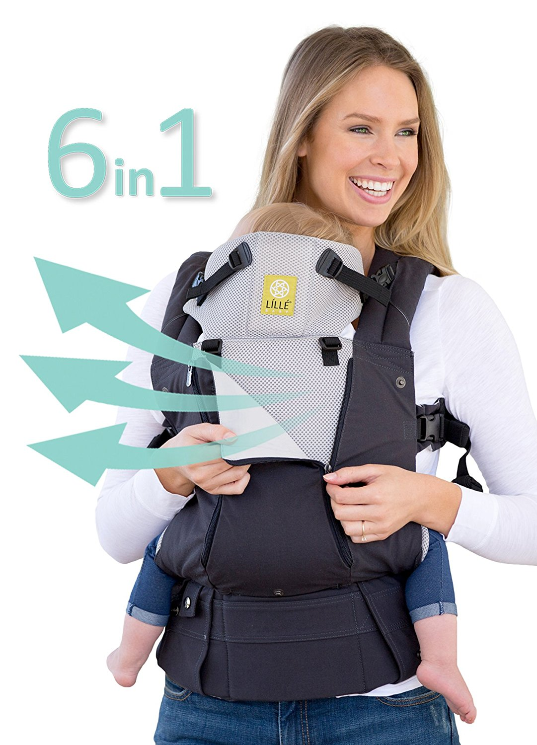 Click here to buy LILLEbaby All Seasons Baby Carrier Black by lillebaby.