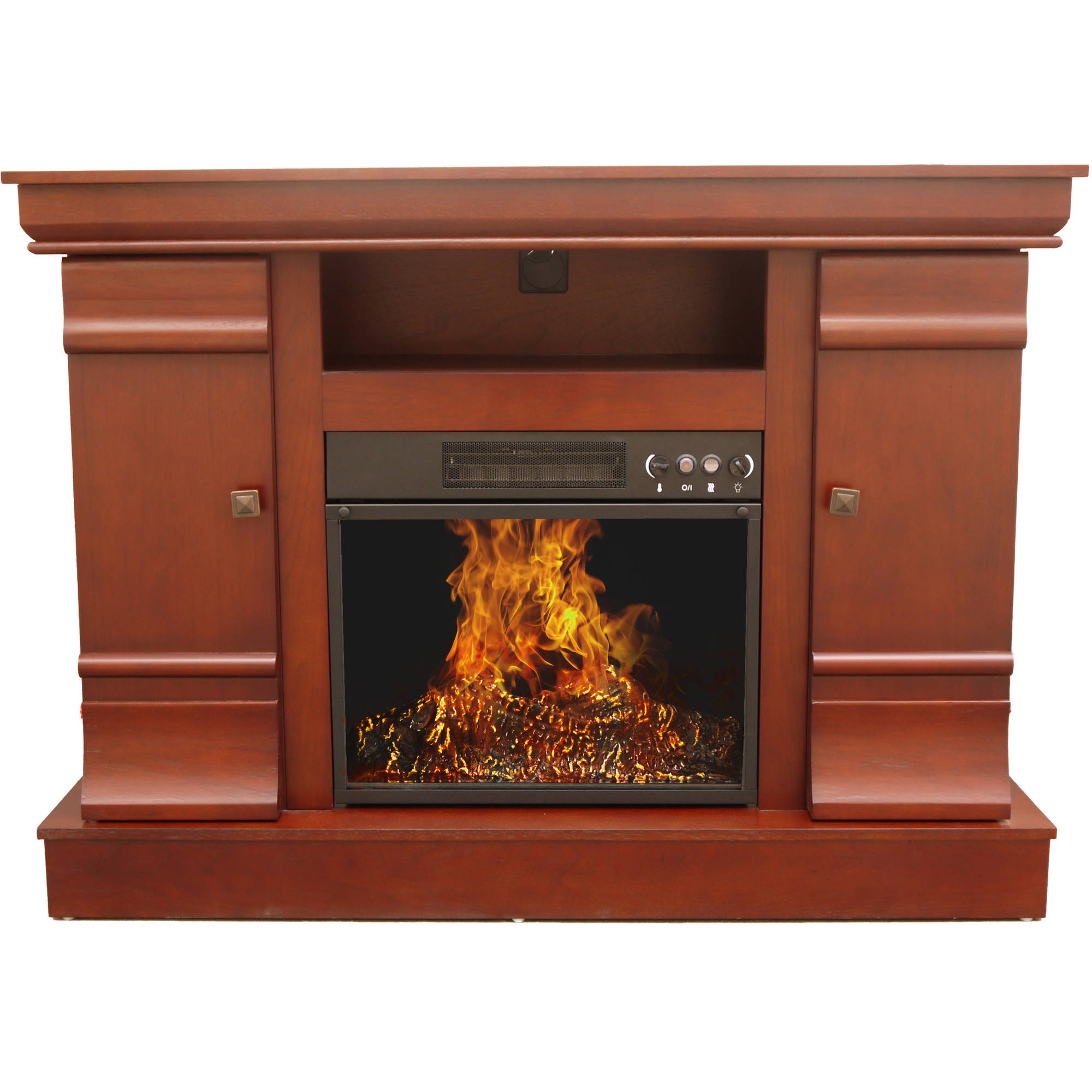 "Decor Flame Electric Fireplace with 42""Mantle"