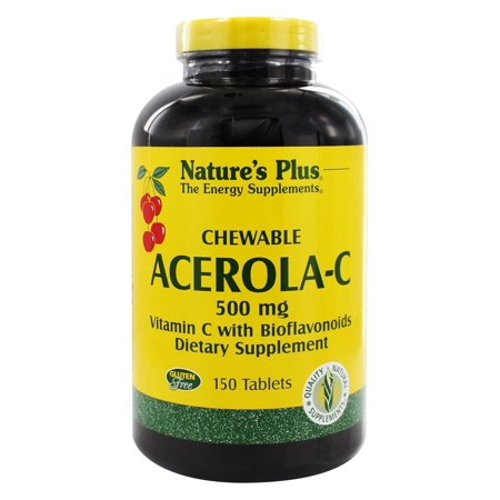 Nature's Plus - Chewable Acerola C Complex 500 mg. - 150 Chewable (Acerola Plus Vitamin)