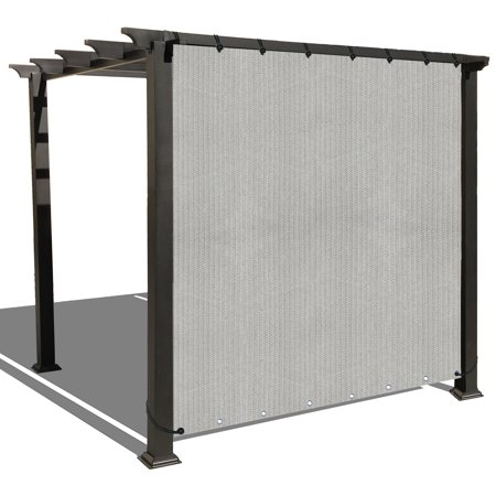 Alion Home Smoke Grey Sun Shade Privacy Panel with Grommets on 2 Sides for Patio, Awning, Window, Pergola or Gazebo  10' x  6'