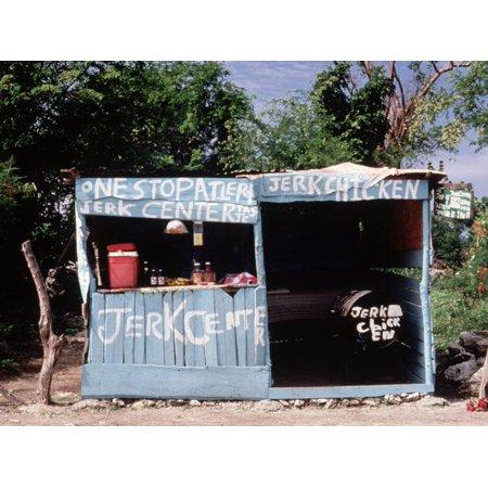 Jerk Chicken Stand, Negril, Jamaica Print Wall Art By Debra Cohn-Orbach ()