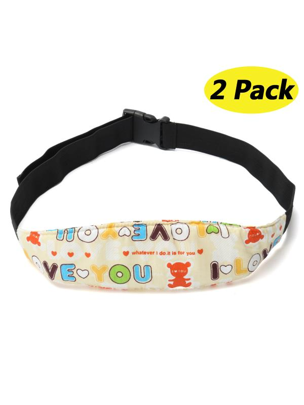Adjustable Safety Baby Kids Car Seat Neck Relief Head Support Safety Stroller Sleeping Belt,2-Pack by
