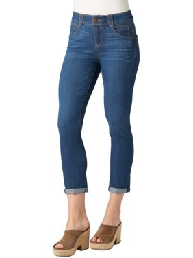 Democracy Womens Ab-solution Roll Cuff Ankle Jeans