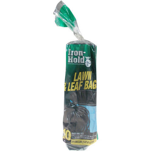 Iron-Hold Lawn & Leaf Bags, 39 gal, 10 count