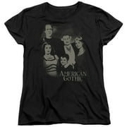The Munsters American Gothic Womens Short Sleeve Shirt