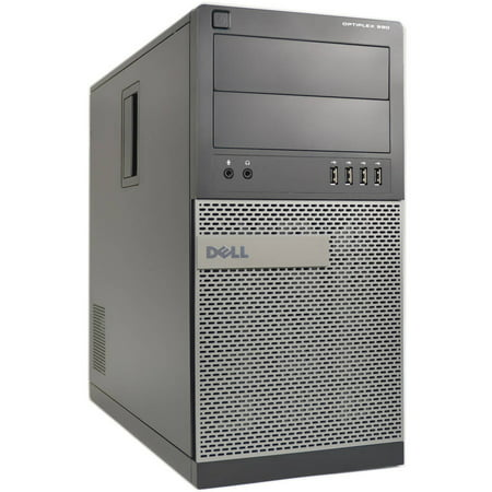 Refurbished Dell 990-T Desktop PC with Intel Core i7-2600 Processor, 4GB Memory, 500GB Hard Drive and Windows 10 Pro (Monitor Not Included)