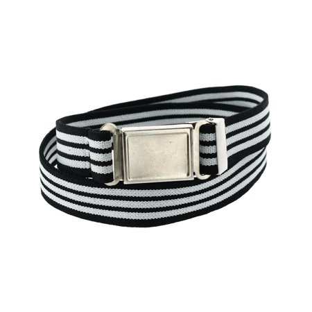 Kids' Elastic Striped Belt with Magnetic Buckle