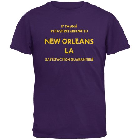 Mardi Gras Return Me to New Orleans Purple Adult T-Shirt](New Orleans Halloween Concert)