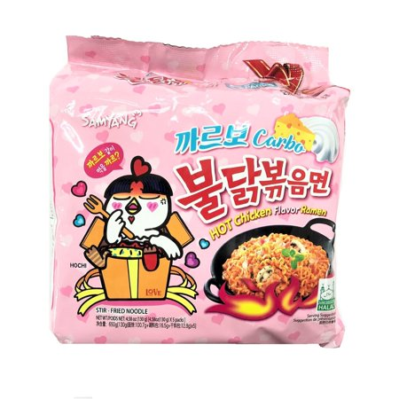 Samyang Carbo Spicy chicken Fried noodles CARBO 5PK