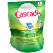 Cascade® Dawn® Fresh Scent Action Pacs Dishwasher Detergent 12 ct Pouch