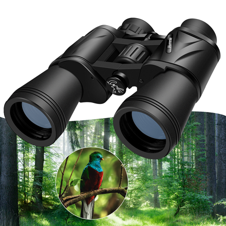Hommie | 10 x 50 Binoculars, Durable Binoculars Much Clear Bright Vision for Bird Watching Sightseeing Hunting