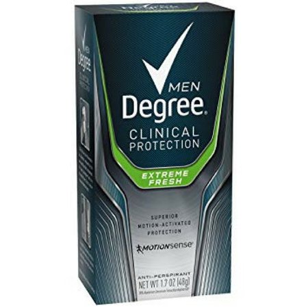 4 Pack - Degree Men Clinical+ Antiperspirant & Deodorant, Extreme Fresh 1.7 oz