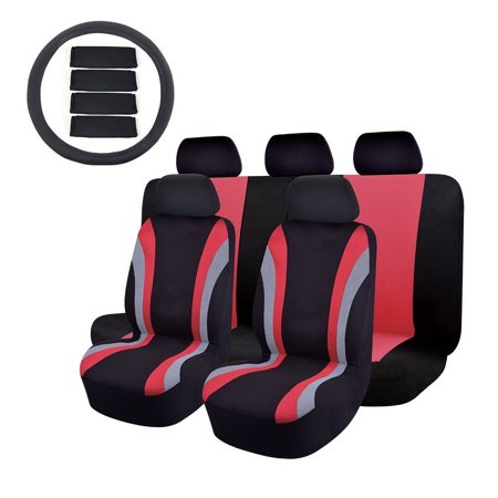 14PC Car Seat Cover OMISS Universal Fit Full Set Sports Fabric car seat
