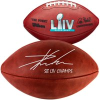 "Travis Kelce Kansas City Chiefs Super Bowl LIV Champions Autographed Super Bowl LIV Pro Football with ""SB LIV CHAMPS"" Inscription - Fanatics Authentic Certified"