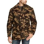 Mens Medium Camo Print Corduroy Jacket M