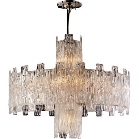 Pendant DAVID MICHAEL LIGHTING Round 11-Light Brass Murano Glass New E14  DM-962 (E14 Glass)