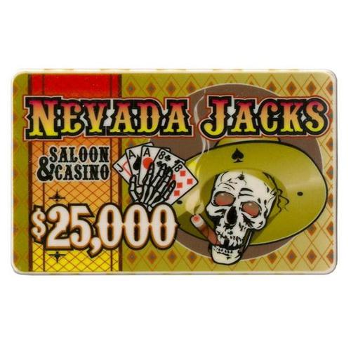 Bry Belly CPNJ-$25000 25 Roll of 25 - $25,000 Nevada Jack 40 Gram Ceramic Poker Plaqu