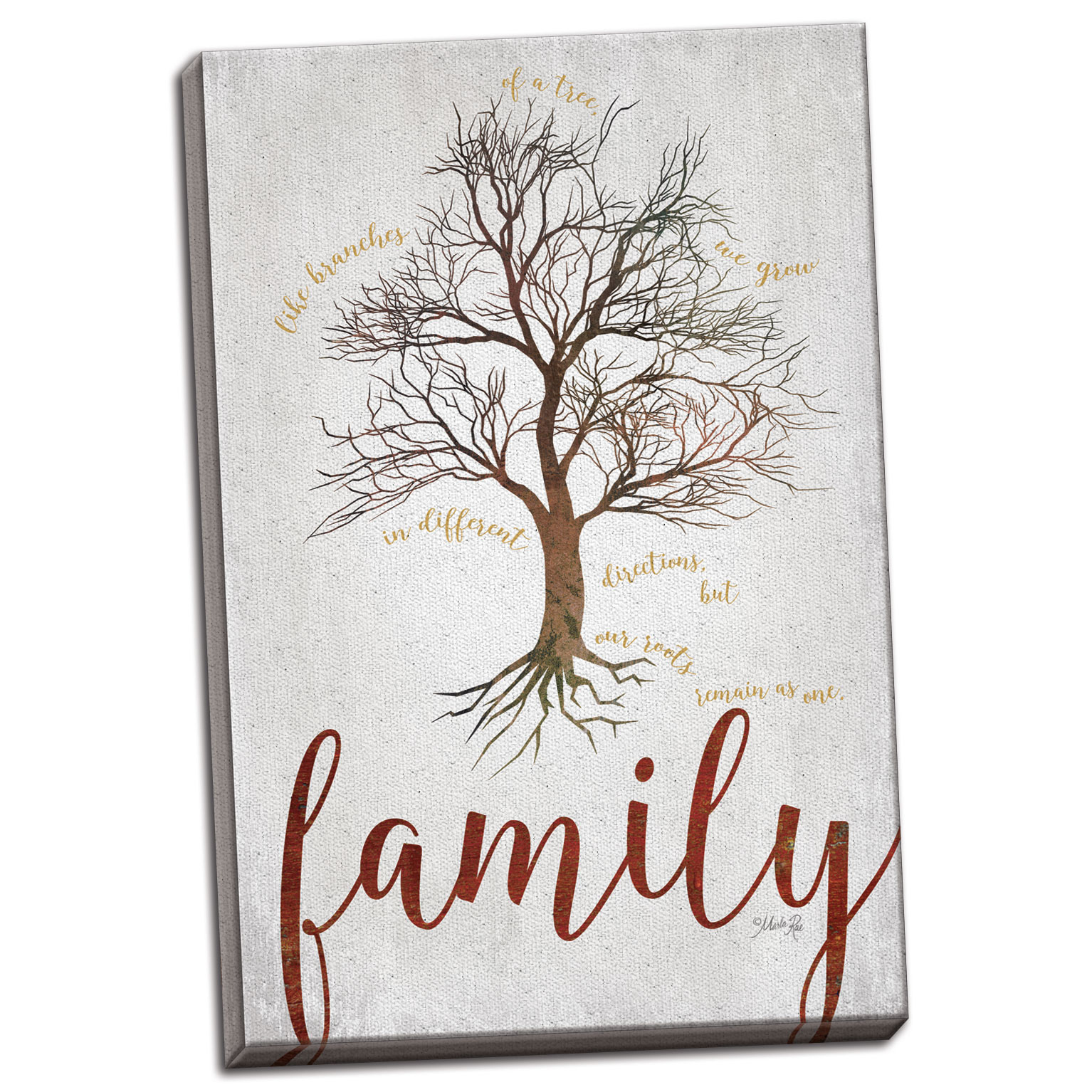 Gango Home Decor Contemporary Family Tree by Marla Rae (Ready to Hang); One 12x18in Hand-Stretched Canvas