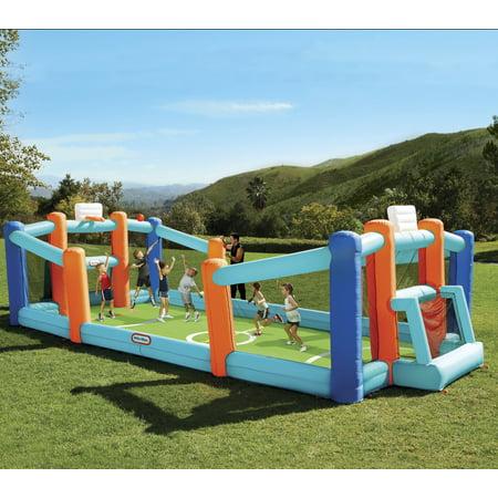 Little Tikes Huge Inflatable Backyard Soccer & Basketball Court