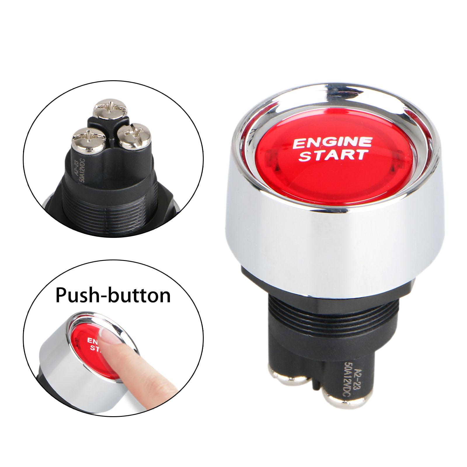 12V LED Illuminated Engine Start Switch Push Button Starter for Car Marine Boat