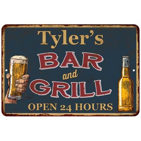 UPC 786359016410 product image for Tyler's Green Bar and Grill Personalized Metal Sign 8x12 Decor 108120044157 | upcitemdb.com