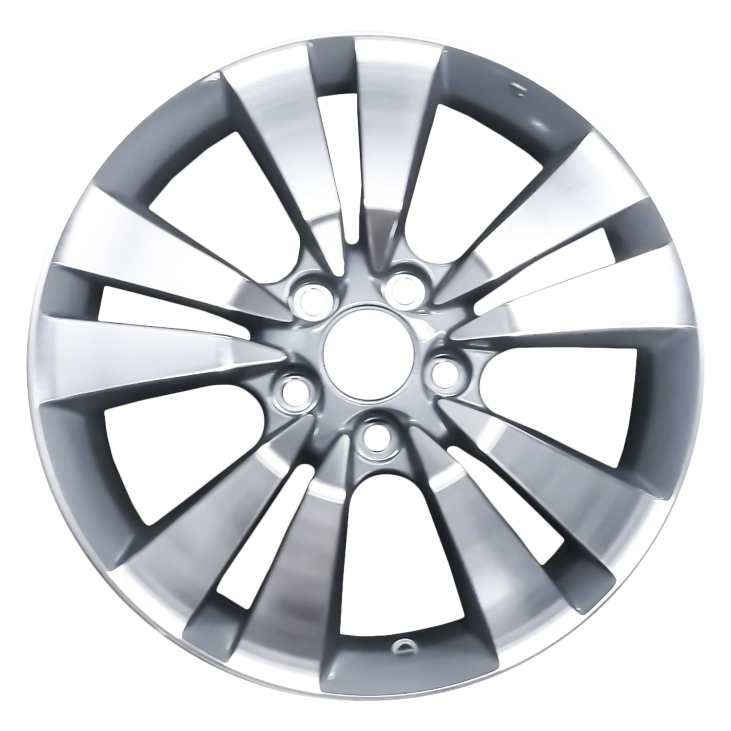 2008-2013 Honda Accord::Coupe  17x7.5 Alloy Wheel, Rim Medium Charcoal Textured with Machined Face - 63938
