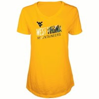 Women's Russell Gold West Virginia Mountaineers Tunic Cap Sleeve V-Neck T-Shirt
