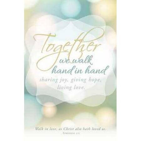 Bulletin-Together We Walk Hand In Hand (Wedding) (Ephesians 5:2) (Pack Of 100)](Wedding Bulletins)