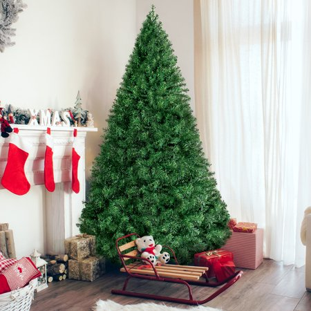 Best Choice Products 6ft Premium Hinged Artificial Christmas Pine Tree Holiday Decoration w/ Solid Metal Stand, 1,000 Tips, Easy Assembly - Green ()