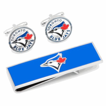 Vintage Toronto Blue Jays Cufflinks and Money Clip Gift Set MLB by
