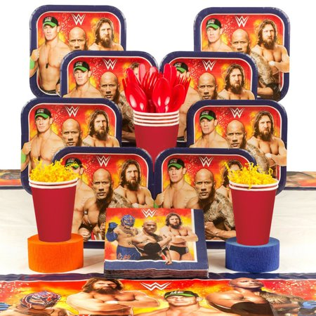 WWE Party Deluxe Tableware Kit (Serves 8) Caribbean Deluxe Party Kit