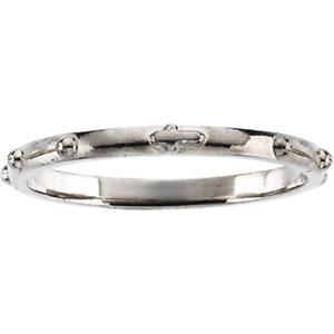 14k white gold rosary ring size 9 walmart com