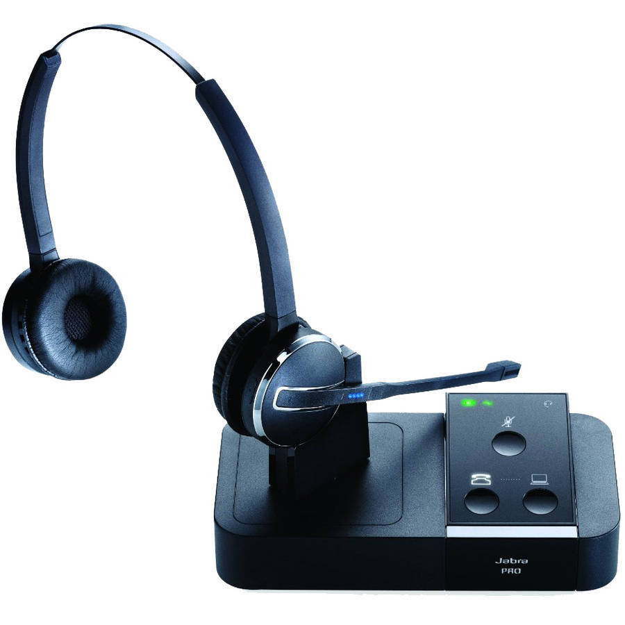 Jabra Pro 9450 Duo Flex Boom Wireless Headset for Desk Phone and Softphone by GN Netcom