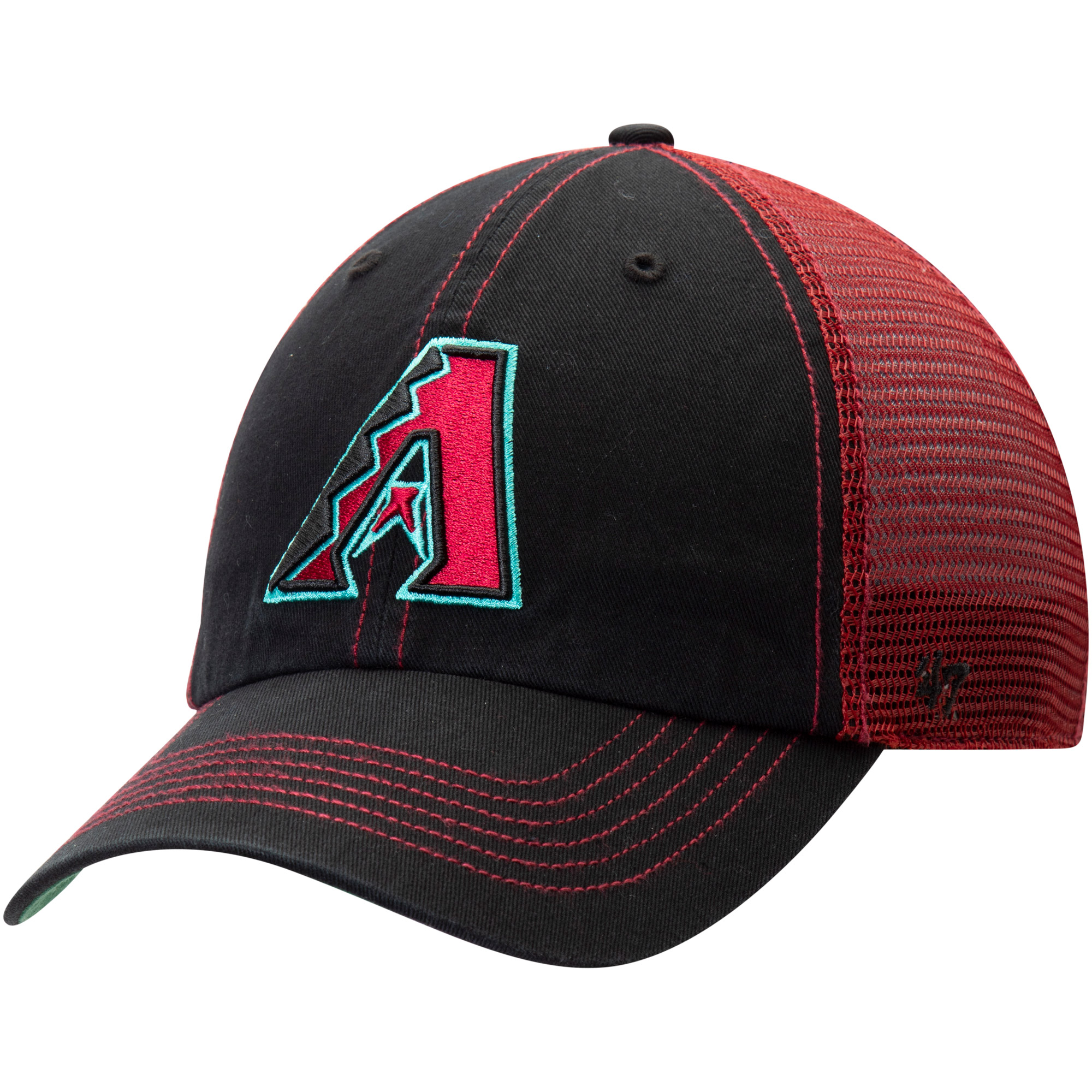 Arizona Diamondbacks '47 Trawler Clean Up Trucker Hat - Black - OSFA