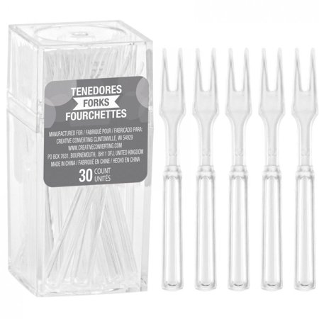 Creative Converting Clear Cocktail Forks, 30 ct (Creative Halloween Cocktails)