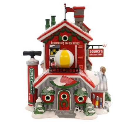 Department 56 House BOUNCY'S BALL FACTORY Porcelain North Pole Series 6000614 Department 56 North Pole Series