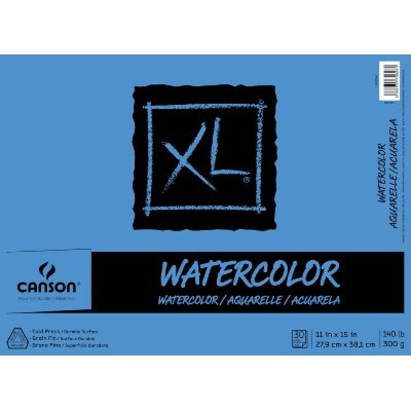 Canson XL Series Watercolor Pad, 11X15 Fold Over Bound