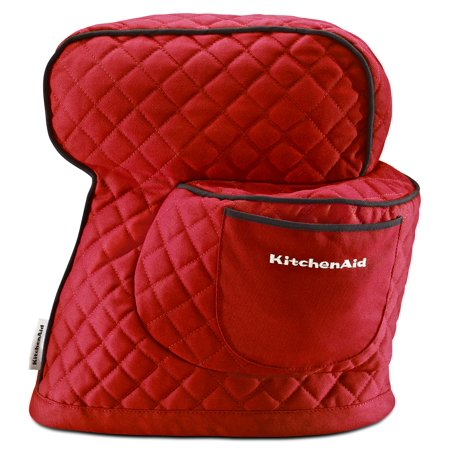 KitchenAid KSMCT1ER Fitted Stand Mixer Cover for Tilt head stand mixer models (4.5-quart and 5-quart), Empire Red Stand Mixer Cloth Cover