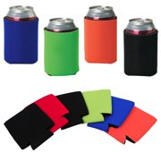 Topeakmart 12pcs Neoprene Beer Can Bottle Cooler Sleeves Insulators Reversible for 12ounce by Topeakmart