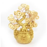 Feng Shui Money Tree with Dragon Pot