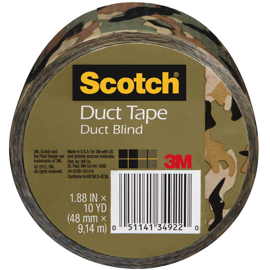 "3M Scotch Printed Duct Tape, 1.88"" x 10 yds"