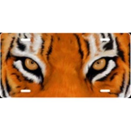 Plated Tigers Eye (Tiger Eyes Airbrush License Plate Free Names on this Air Brush )