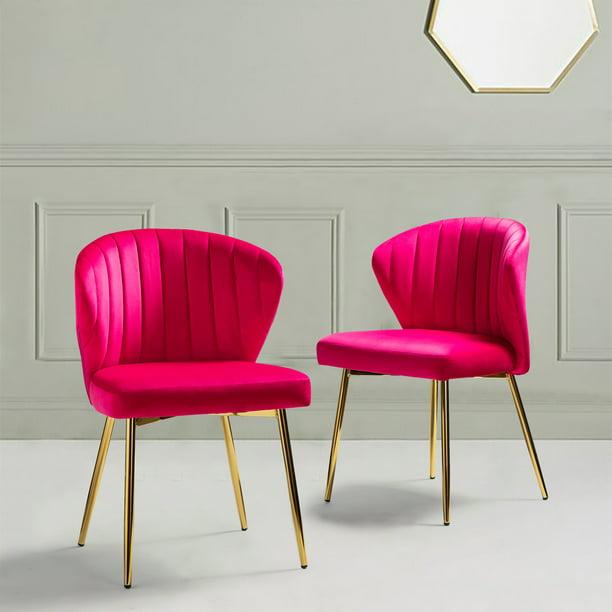 14karat Home Milia Dining Chair Set Of, Fuchsia Dining Room Chairs