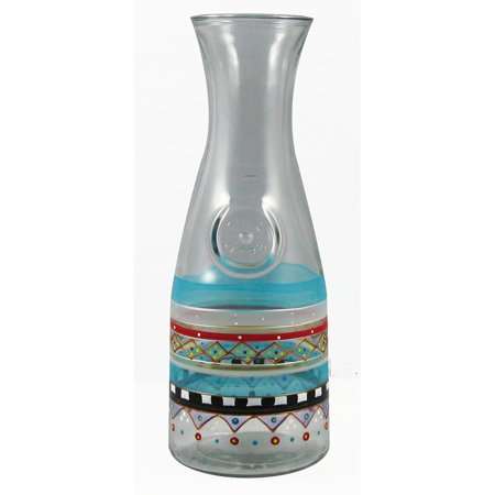 Mosaic Carnival Confetti Hand Painted Beverage Carafe - 34 - Hand Painted Carafe
