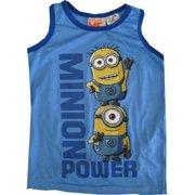 """Little Boys Blue """"Minion Power"""" Chartacter Sleeveless Shirt 4-7"""