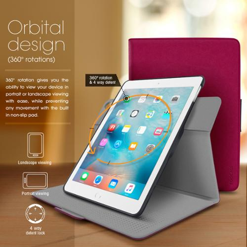 iPad Air 2 / Air 1 Case, rooCASE 360 Rotating Leather Orb Folio Case Smart Cover (Auto Sleep/Wake) for iPad Air 2 / Air 1 (will NOT fit New iPad 2017)