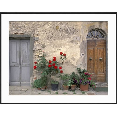 This button opens a dialog that displays additional images for this product with the option to zoom in or out.  sc 1 st  Walmart & Art.com \u0027Tuscan Doorway in Castellina in Chianti Italy\u0027 Framed ...