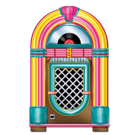 50s Themed Decorations (Pack of 12 Vintage Style 50's Themed Rock & Roll Jukebox Party Decorations)