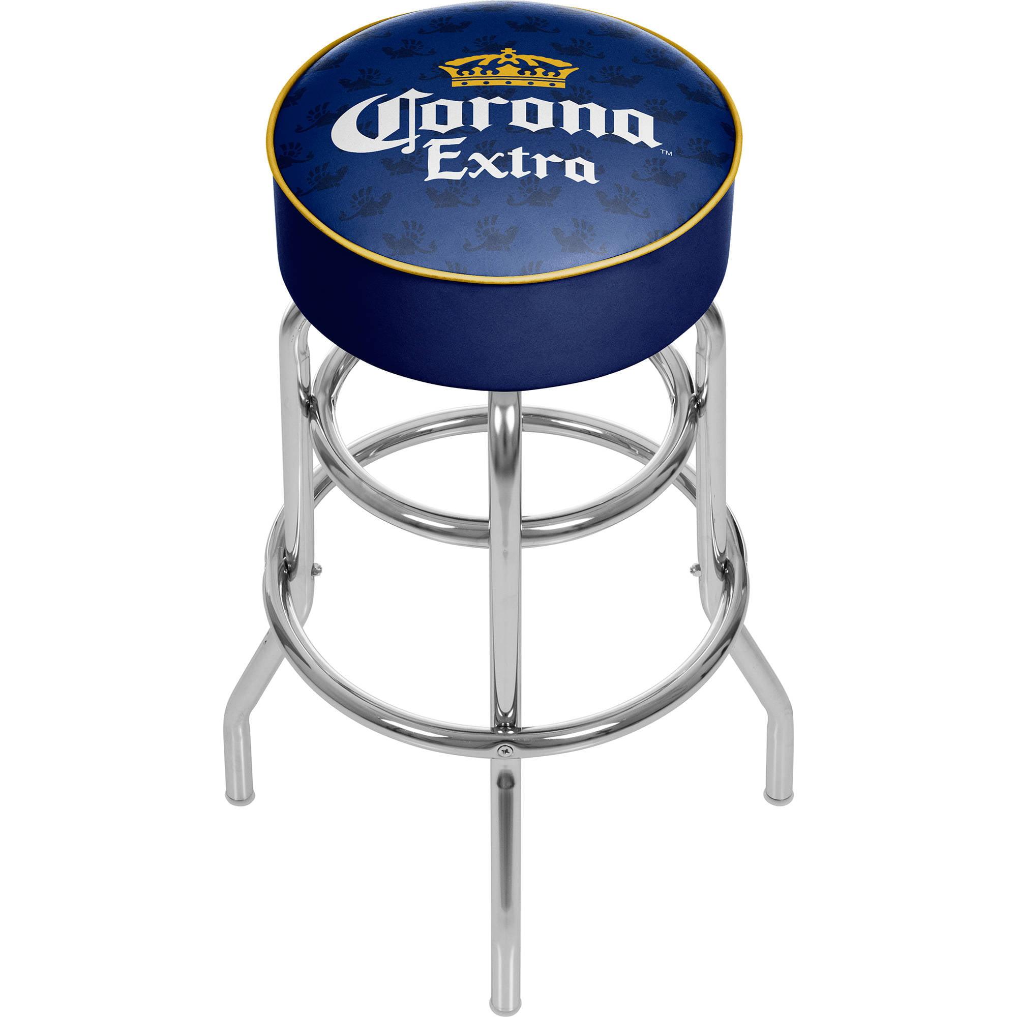 Corona Chrome Bar Stool with Swivel, Griffin