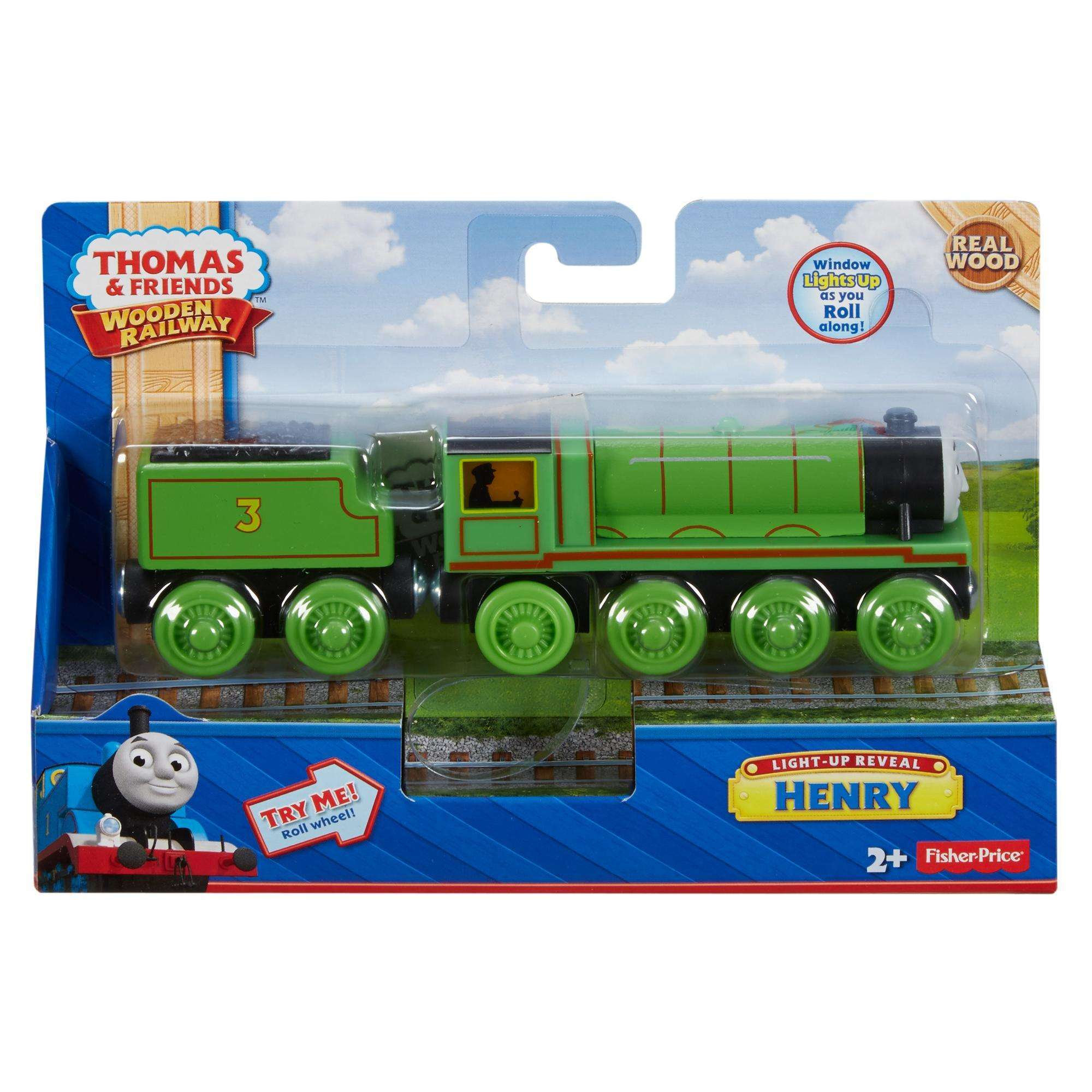 Thomas And Friends Wooden Railway Light Up Henry The Engine